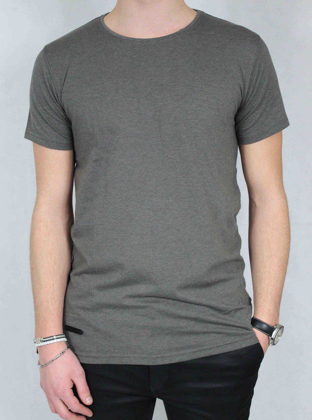 Tshirt coton homme gris anthracite