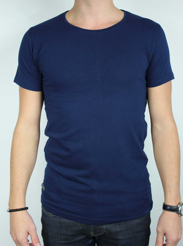 t-shirt manches courtes homme marine