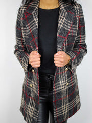 veste blazer carreaux