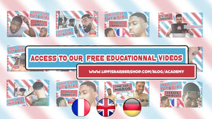 The Self Cut Academy give you access to free tutorial on our Youtube Channel LipFi's BarberShop