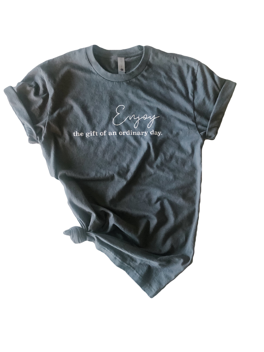 Ladies ordinary day t-shirt in slate grey