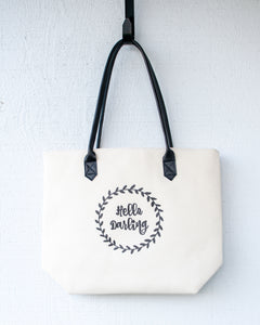 Hello Darling tote bag