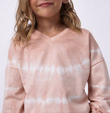Kids Blush Tie-Dye V-Neck Top