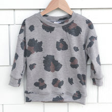 Kids Leopard Drop Shoulder Crew