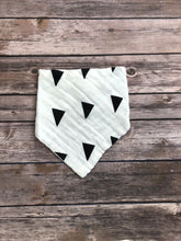 Monochrome bandana bib in triangles