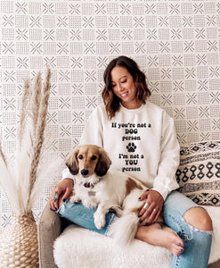 Ladies Dog Person Crew Sweatshirt