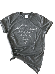 Ladies Adventurer at heart tee