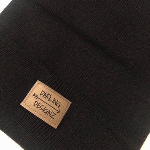 Darling Designz logo toque in black