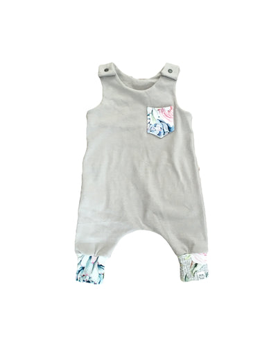 Grey Desert Bloom Harem Romper