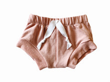 Bamboo shorties in blush pink