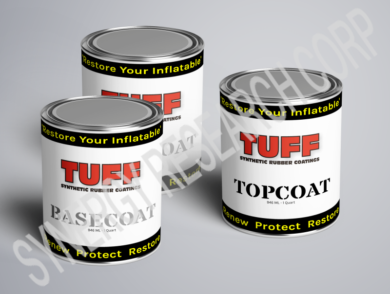 TUFF SRC Kit for up to 11 foot dinghy includes 2 Basecoat and 1 Gray Topcoat Quarts