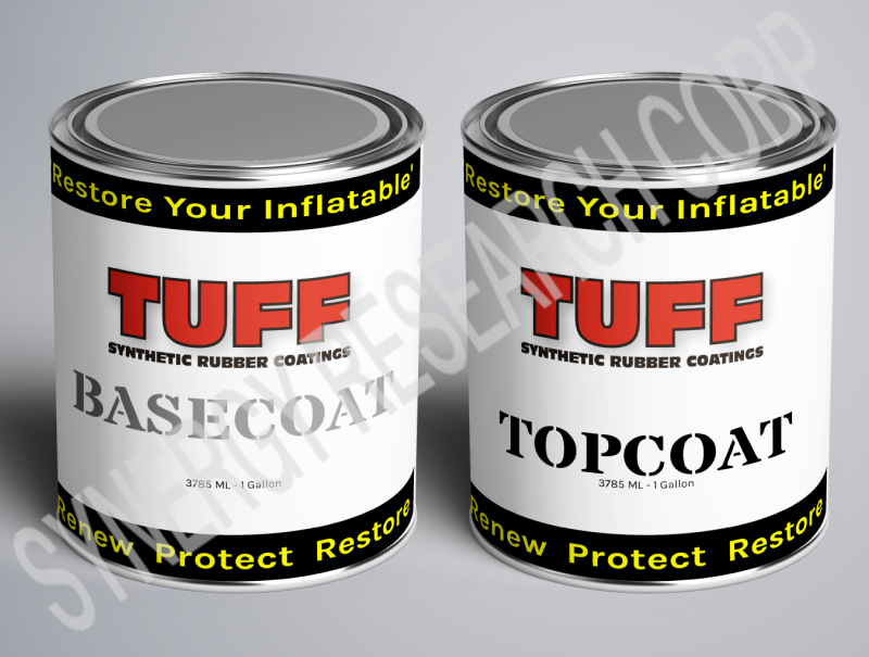 TUFF SRC Gallon Kit - Gray Inflatable boat restoration paint to restore Hypalon