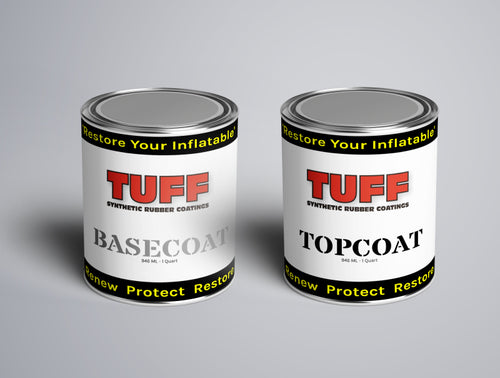 TUFF SRC Quart Kit Gray Paint to restore renew inflatable Hypalon or PVC boats