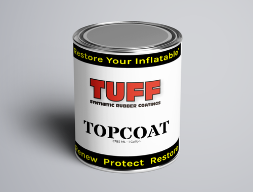 TUFF SRC Topcoat Gallon - paint inflatable boat restoration for hypalon and pvc boats