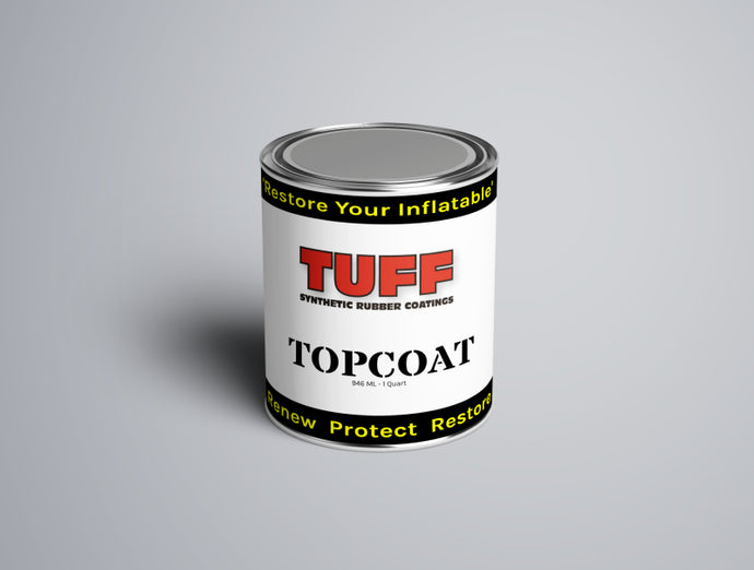 TUFF SRC Topcoat Quart - GRAY paint inflatable boat restoration for hypalon and pvc boats