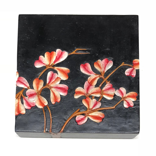 Flowering Vines - Soapstone Trinket Decor Box - Niger Bend