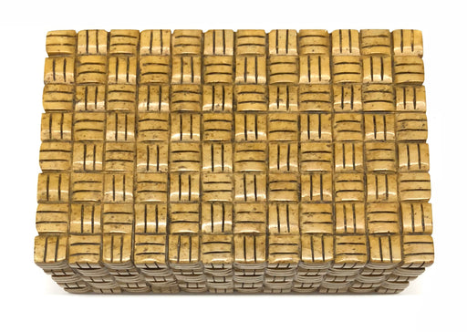 Basket Weave - Niger Bend Soapstone Trinket Decor Box - Niger Bend