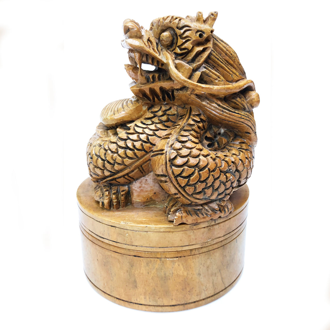 Dragon - Soapstone Trinket Decor Box