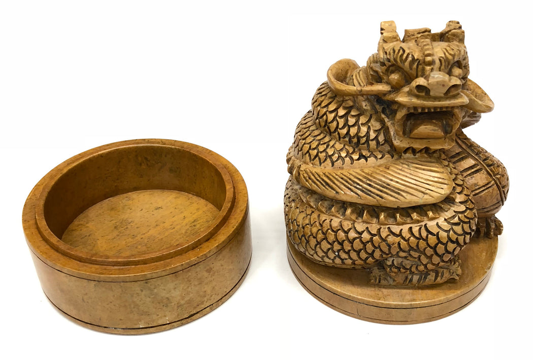Dragon - Soapstone Trinket Decor Box - Niger Bend