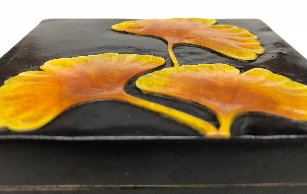 Ginkgo Leaves – Soapstone Trinket Decor Box
