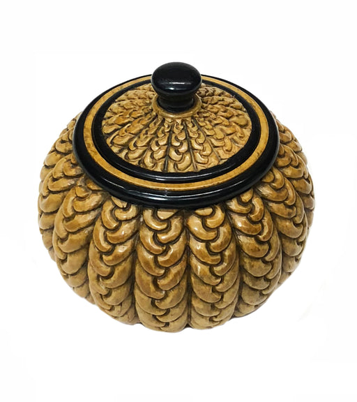 Braided Weave - Niger Bend Soapstone Trinket Decor Jar With Lid - Niger Bend