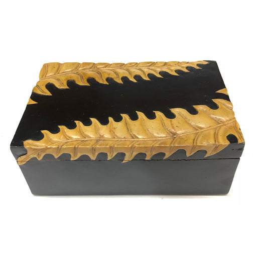 Fern Soapstone Trinket Decor Box - Niger Bend
