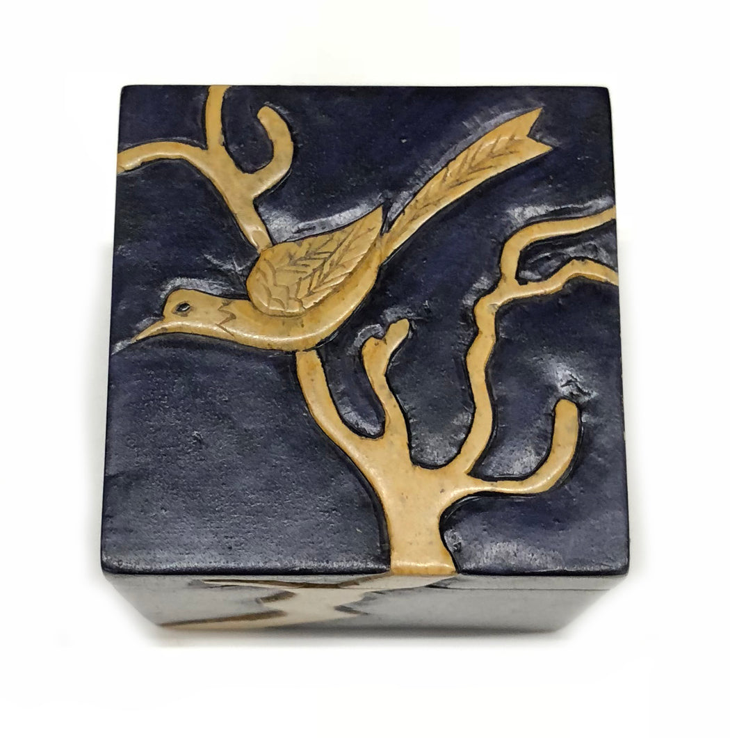 Bird in Tree - Niger Bend Soapstone Trinket Decor Box