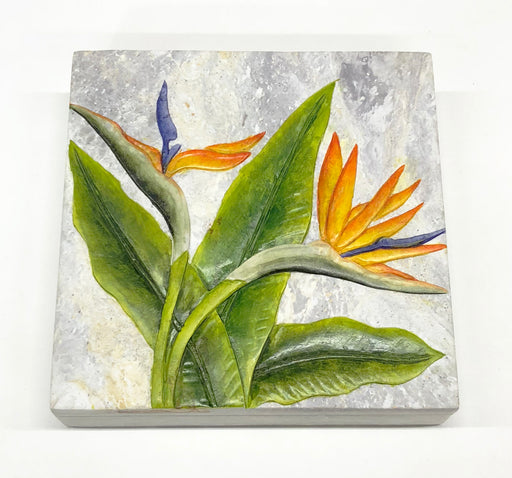 Bird of Paradise Flower - Soapstone Trinket Decor Box