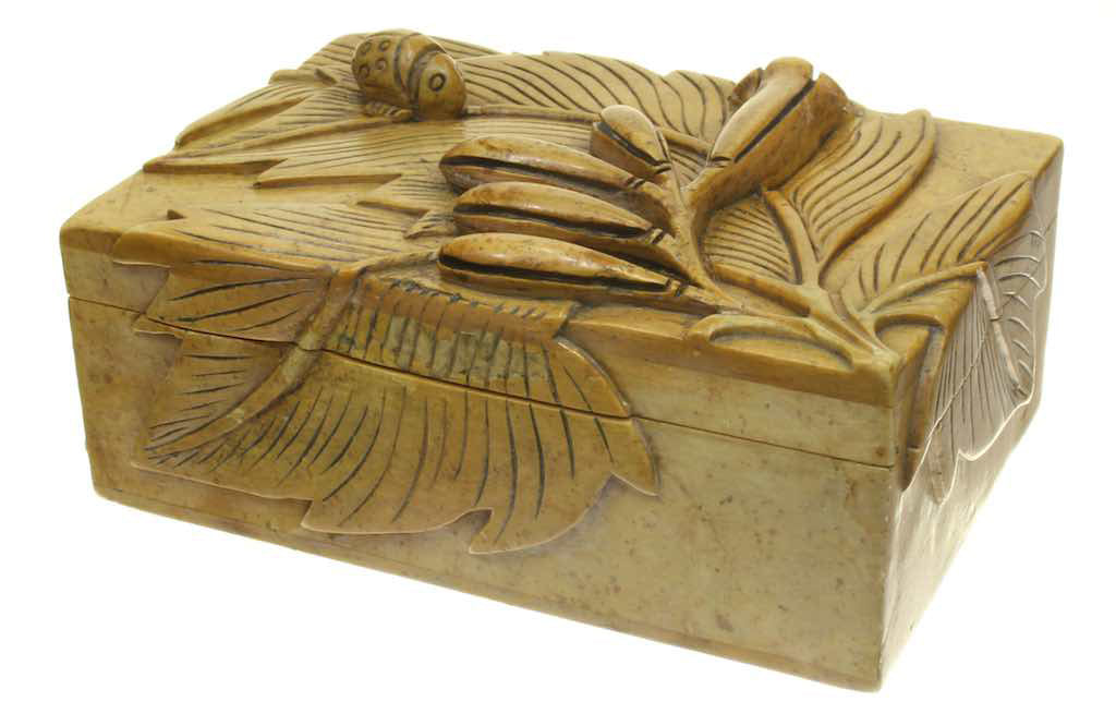 Bug and Plant Soapstone Trinket Decor Box & Drawer - Niger Bend