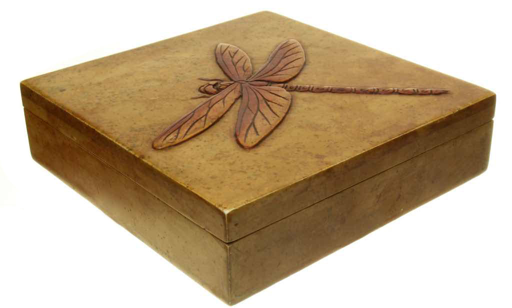 Dragon Fly - Soapstone Trinket Decor Box - Niger Bend