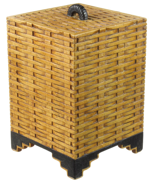 Wicker Weave - Soapstone Trinket Decor Lidded Box