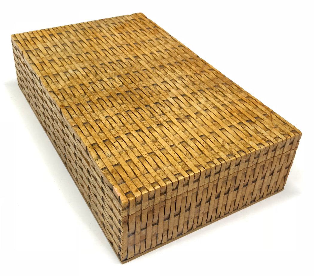Wicker Weave - Soapstone Trinket Decor Box