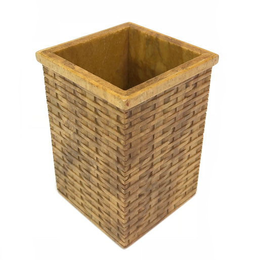 Wicker Weave Soapstone Trinket Decor Box - Niger Bend