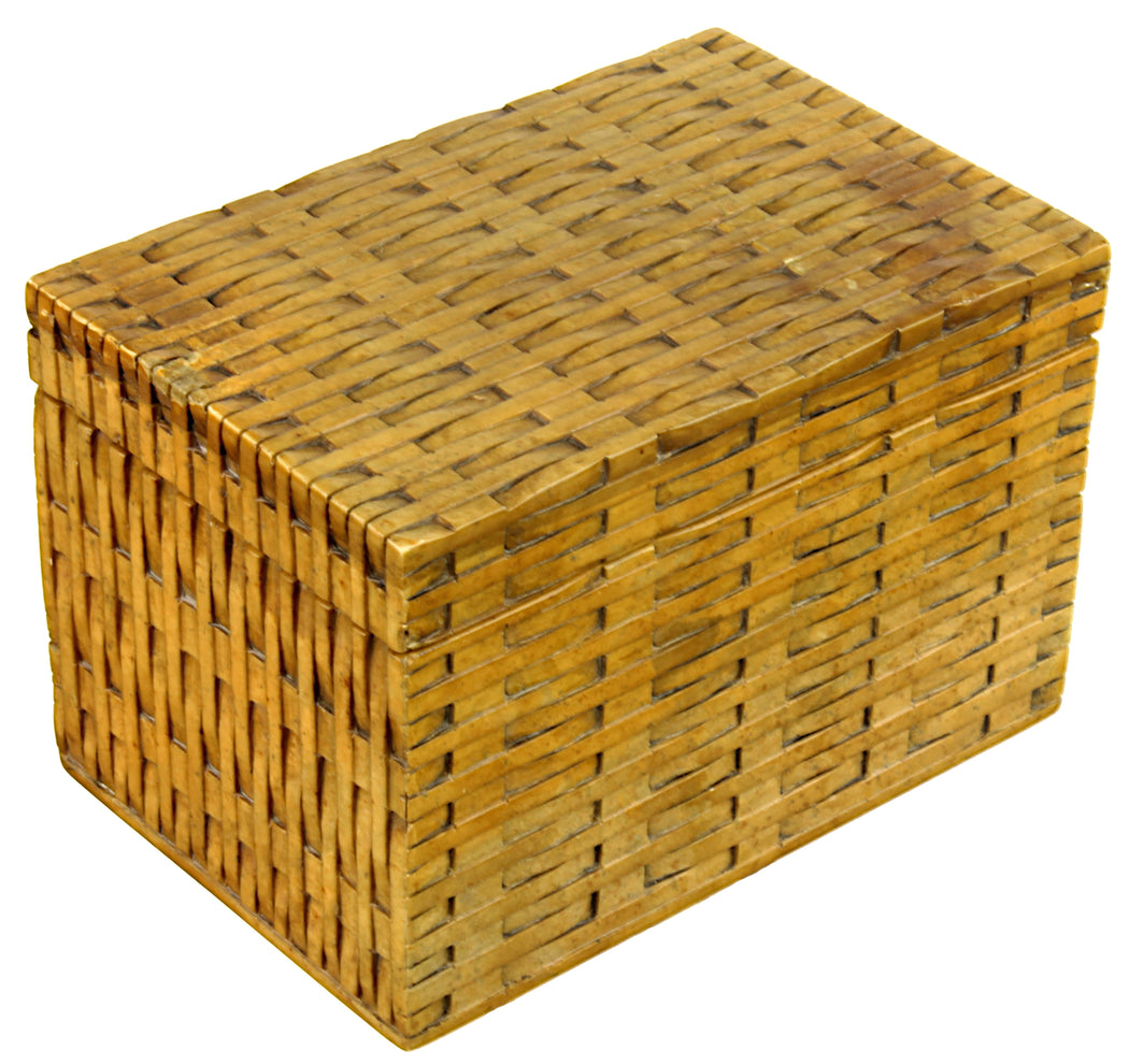Wicker Weave - Soapstone Trinket Decor Box - Niger Bend