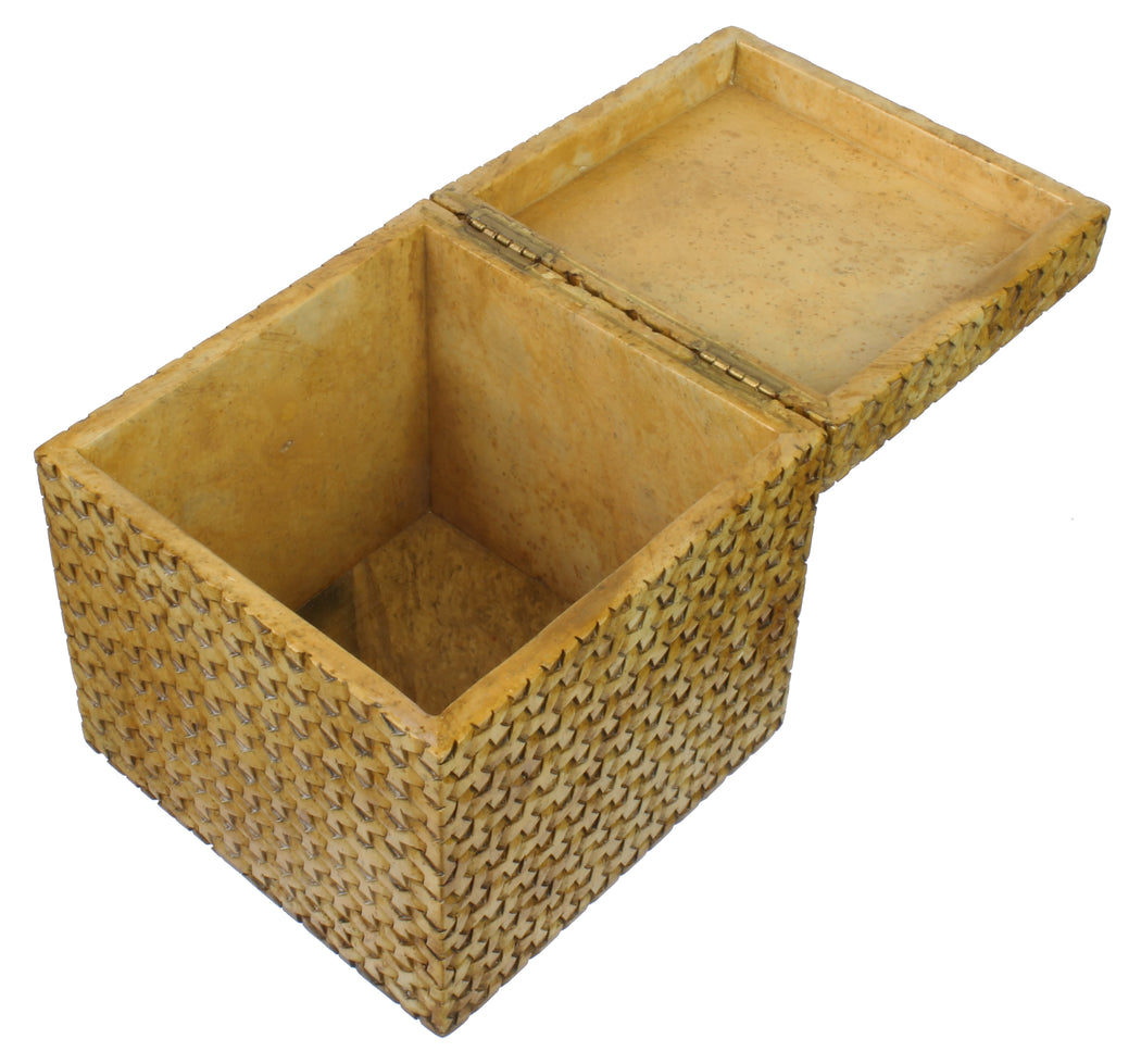 Y Weave Soapstone Trinket Decor Box - Niger Bend