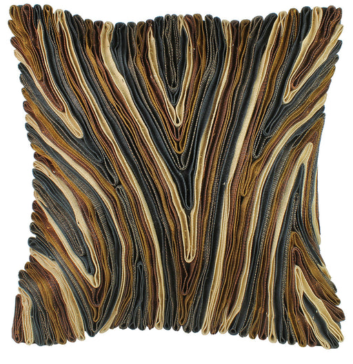 Abacá Décor Pillow Throw with Bark Pattern - Niger Bend