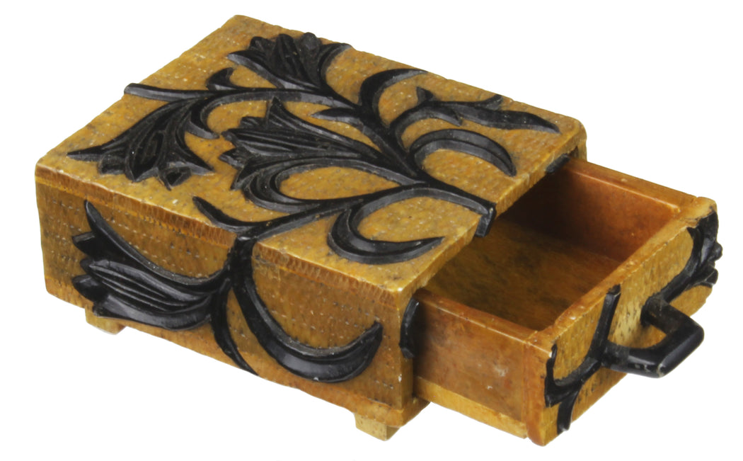 Flowering Plants -  Soapstone Trinket Decor Box - Niger Bend
