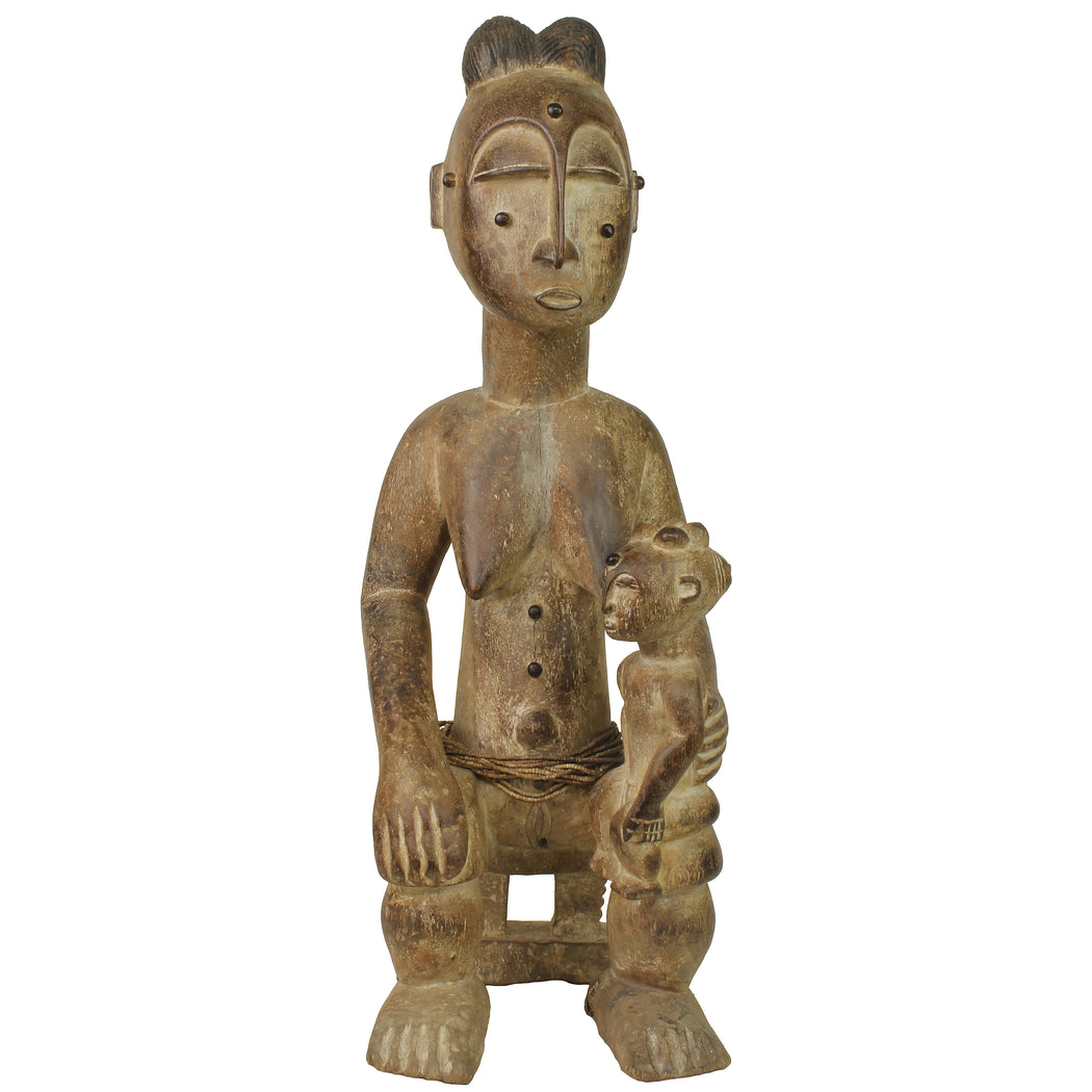 "Atie Mother and Child Spirit Statue | 22.5"" - Niger Bend"