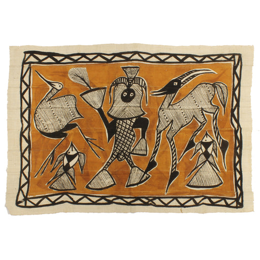 "Korhogo Printed Ivory Coast African Textile | 52"" x 35"" - Niger Bend"