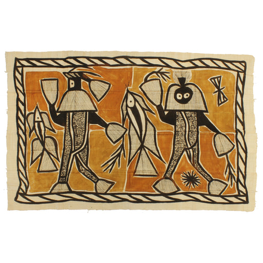 "Korhogo Printed Ivory Coast African Textile | 55"" x 34"" - Niger Bend"