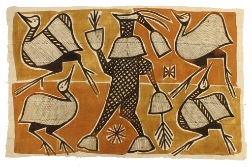 "Korhogo Printed Ivory Coast African Textile | 52"" x 33"" - Niger Bend"