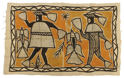 "Korhogo Printed Ivory Coast African Textile | 54"" x 34"" - Niger Bend"