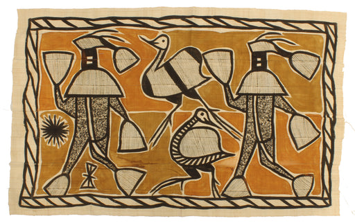 "Korhogo Printed Ivory Coast African Textile | 56"" x 35"" - Niger Bend"