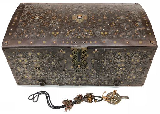 Antique Tuareg Mauritanian Travel Chest with Lock & Key - Niger Bend