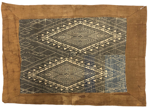 Vintage Black Tay Blanket from Vietnam - Niger Bend