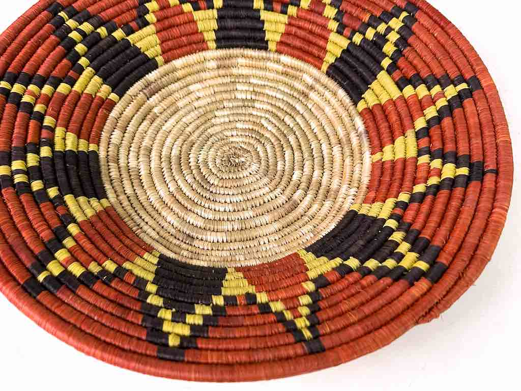 Finest Quality Handwoven Batoro Raffia Basket/Bowl | 9.5""