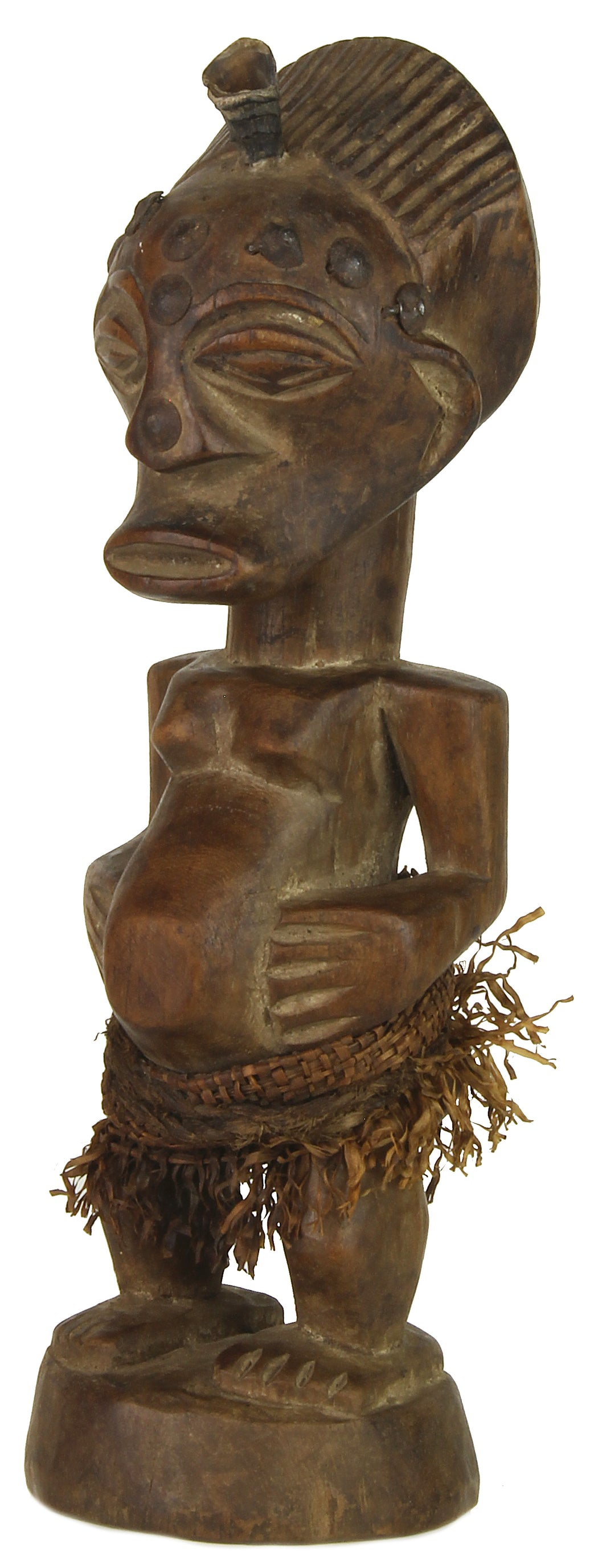 "Songye Tribal Power Figure Statue of Congo | 8.5"" - Niger Bend"