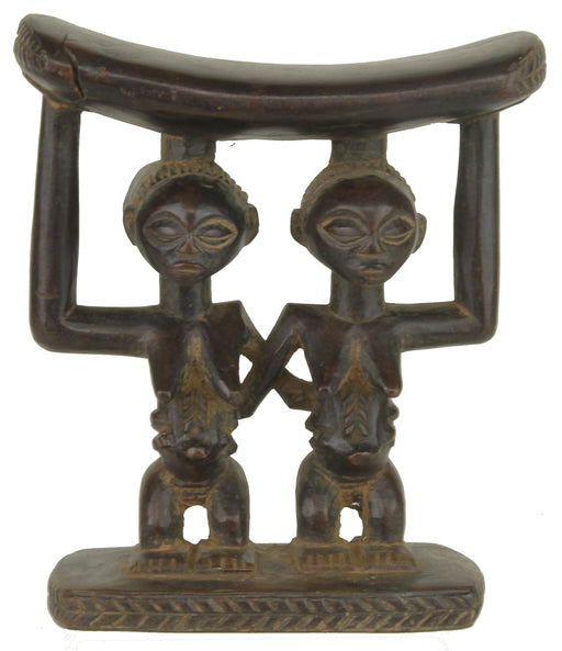 Baluba Women Side by Side Headrest from Congo (DRC) - Niger Bend