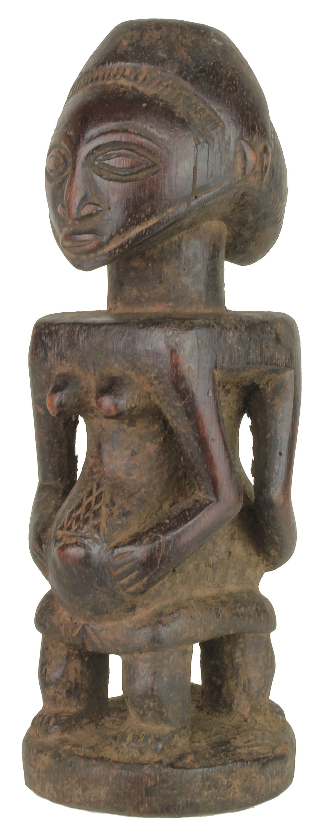 "Luba Tribal Power Figure Statue of Congo | 9"" - Niger Bend"