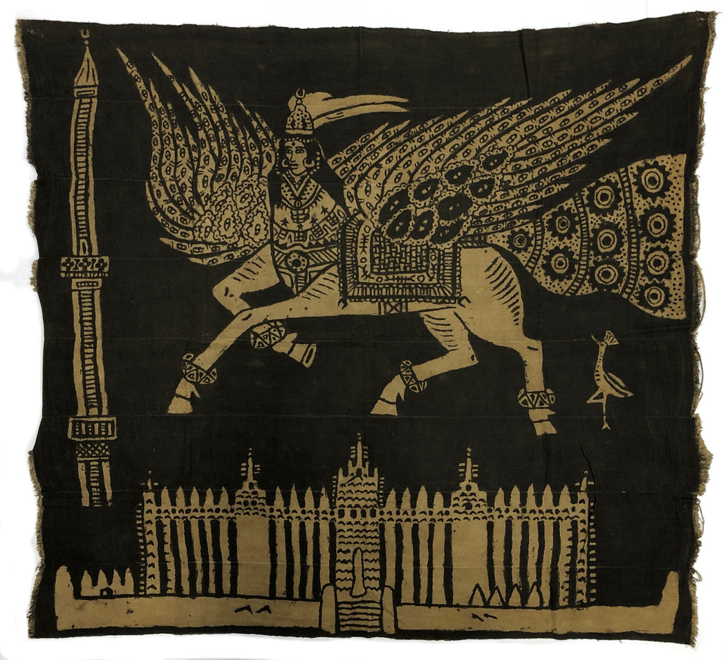 "Vintage Mud Cloth Textile from Mali - 49"" x 44"""